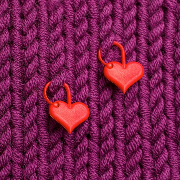 Addi Maschenmarkierer, rotes Herz